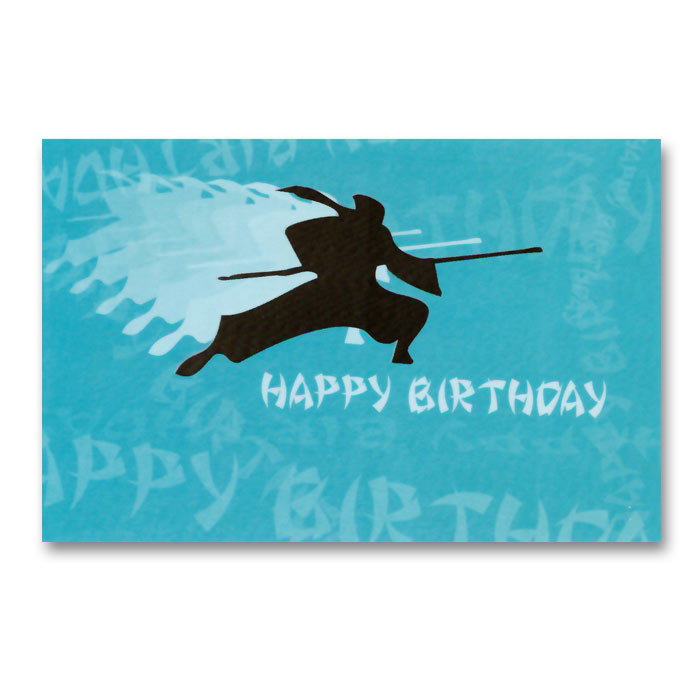 Ninja Strike Happy Birthday Postcard
