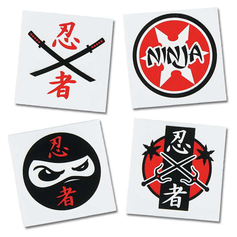 Ninja Temporary Tattoos (36-Pack)