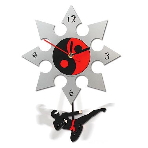 Ninja Wall Clock Ninja Pendulum Clock 10 Inch Ninja Clock