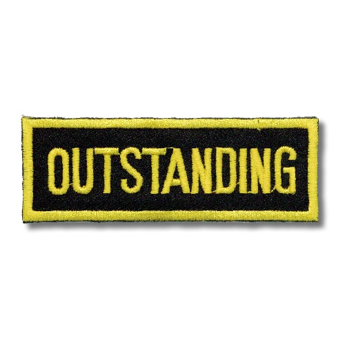 Outstanding Patch - Black and Gold Patches