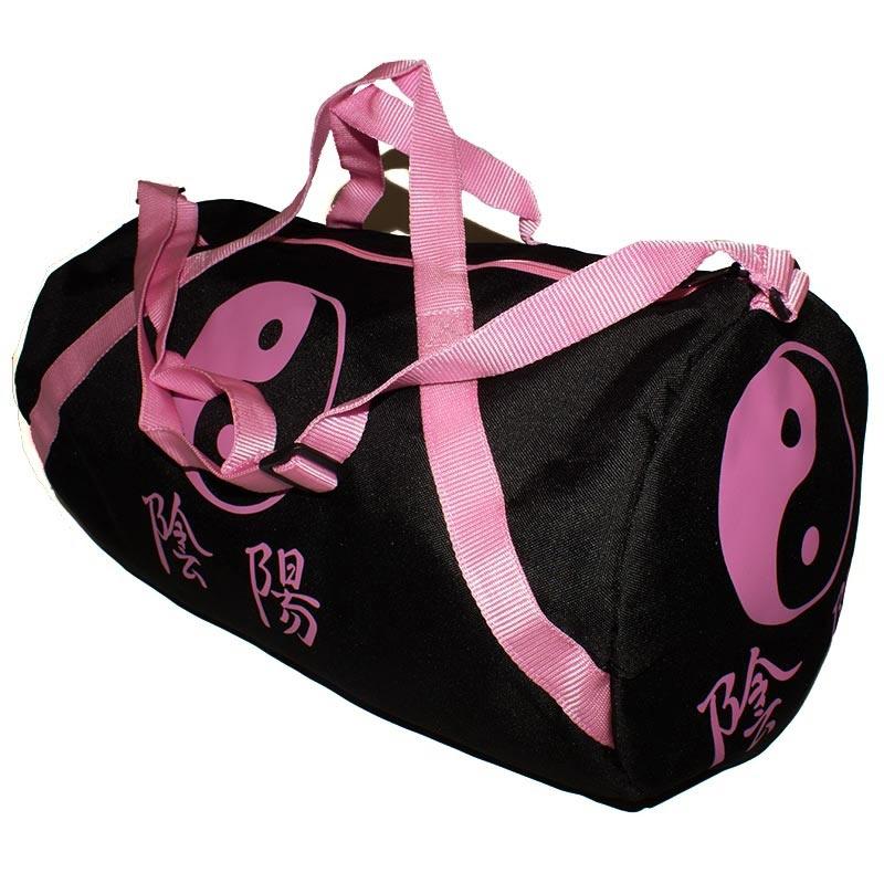 f1a05d2f1d Pink Yin Yang Gear Bag - Martial Arts Duffel Bags - Pink Gym Bag