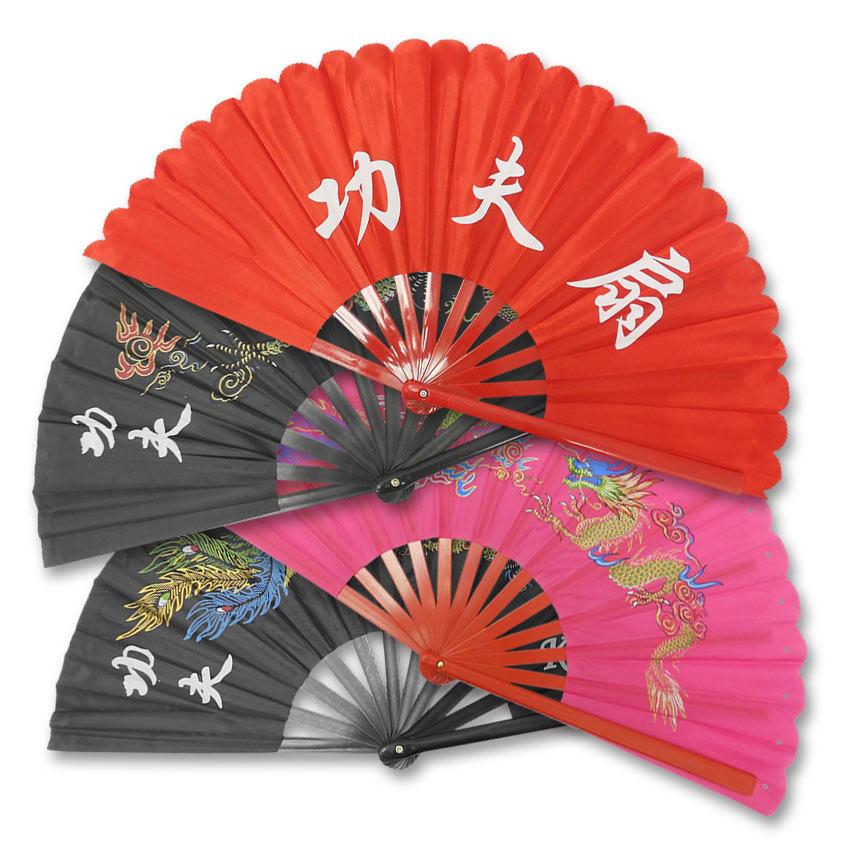 plastic kung fu fan folding martial arts fans decorative chinese fan