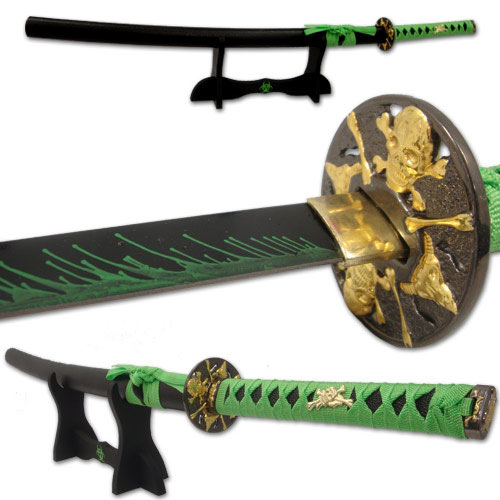 Professional Zombie Samurai Sword with Stand