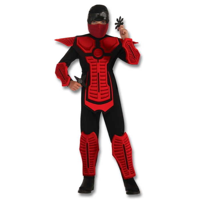 red armored ninja kid costume