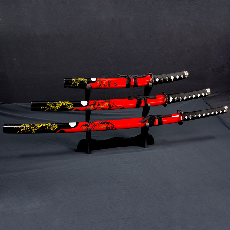 Red Dragon Samurai Sword Set