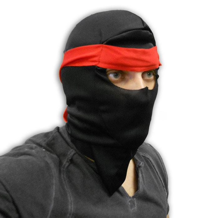 red headband ninja mask ninja hood with head band