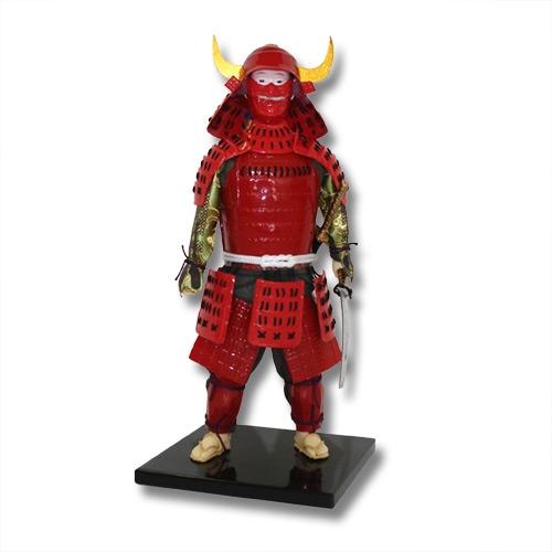 68776979dd Red Samurai Warrior Statue