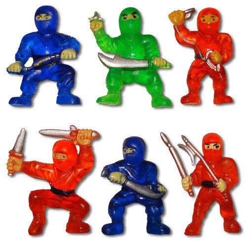 Rubber Ninja Toys Mini Ninja Warriors Ninja Action Figures