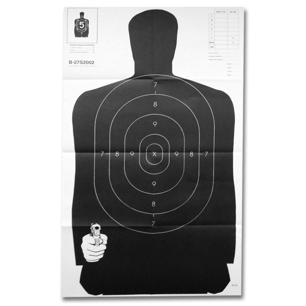 Silhouette target poster
