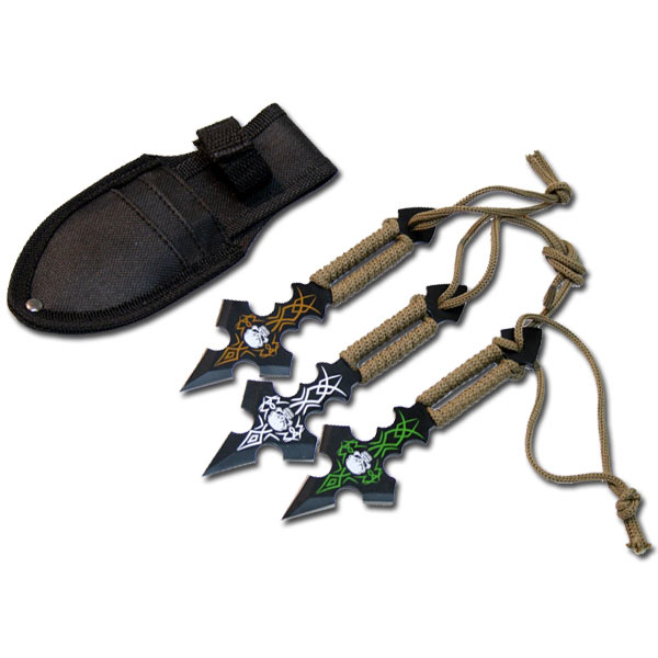 Skull Ninja Throwing Knives - Fantasy Throwing Knife ...