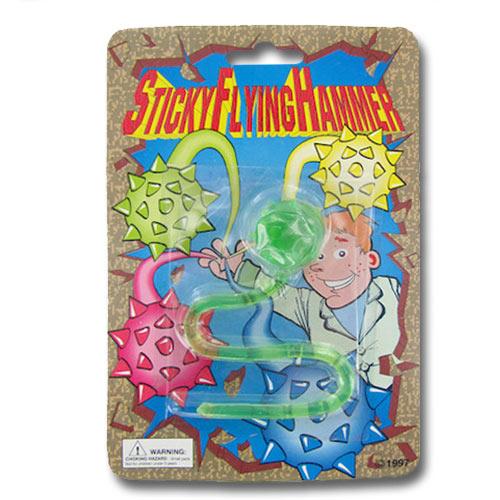 Sticky Amp Stretchy Toys : Sticky flying hammer toy stretchable
