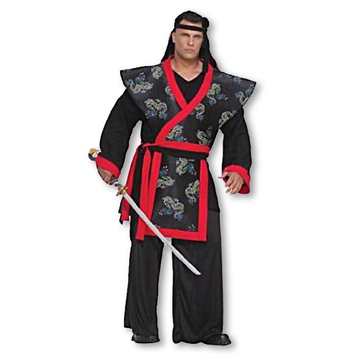 plus size samurai costume