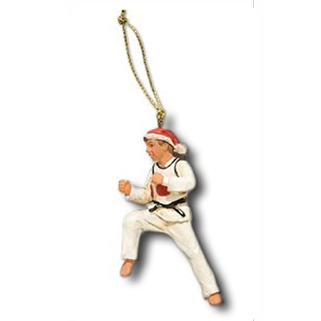 Taekwondo Christmas Ornament - Taekwondo Christmas Figurine - Martial Arts Christmas  Ornaments - Taekwondo Christmas Ornament - Taekwondo Christmas Figurine