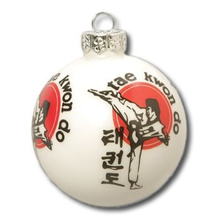 Taekwondo christmas tree ornament