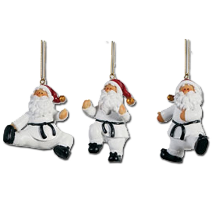 Taekwondo Santa Ornament Set - Taekwondo Holiday Ornaments - Taekwondo  Christmas Ornament - Taekwondo Santa Ornament Set - Taekwondo Holiday Ornaments