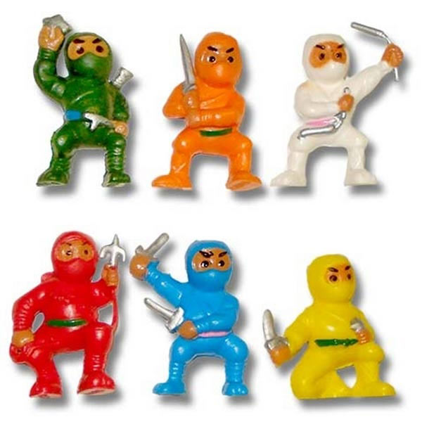 Mini Ninja Toys : Vending machine ninja toys quarter toy ninjas