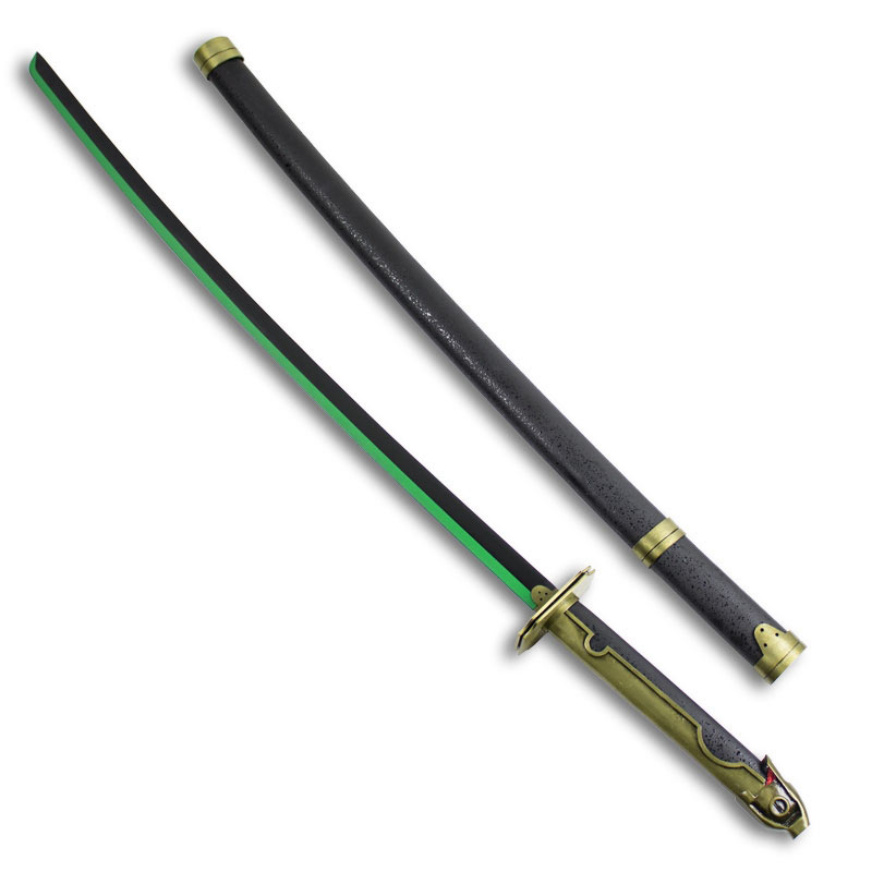 Viridian Edge Samurai Sword - Green and Black Katana ...