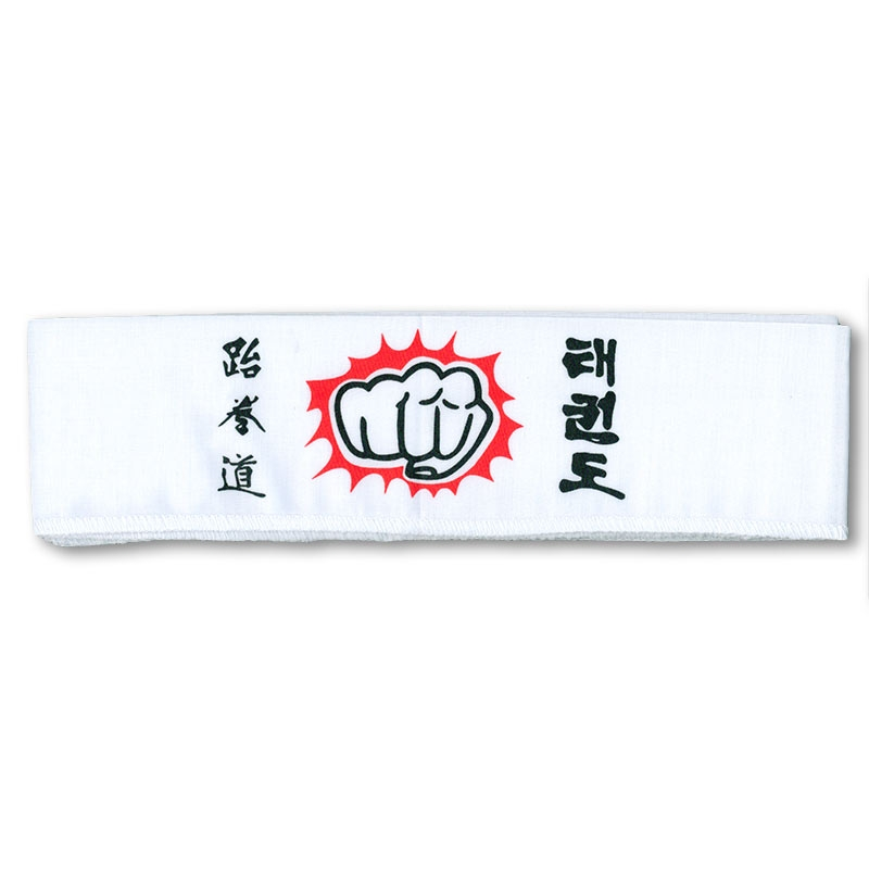 White Taekwondo Fist Headband