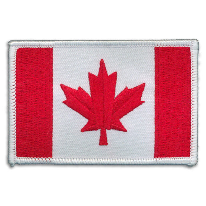White Trim Canadian Flag Patch