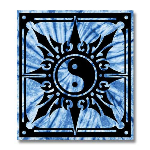 Yin yang wall tapestry blue yin yang wall hanging for Decoration murale yin yang