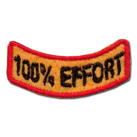 100% Effort Award Patch (2 Left In Stock)