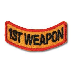 1st Weapon Patch (12 left In Stock)