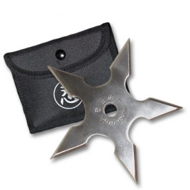 5 Point Silver Throwing Star