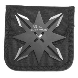 6 Point Black Ronin Throwing Star