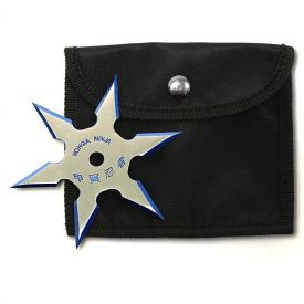 6-Point Blue Edge Throwing Star