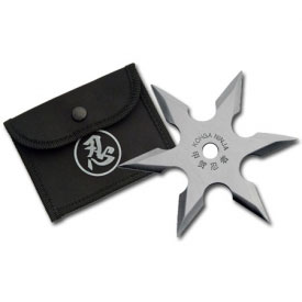 6 Point Silver Throwing Star
