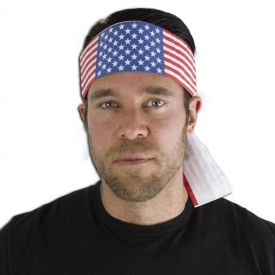 American Flag Headband (16 Left In Stock)
