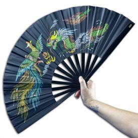Black Bamboo Kung Fu Fan