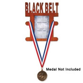 Black Belt Medal Display Picture Frame