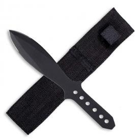 Black Broadhead Throwing Knife