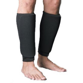 Black Cloth Shin Guards