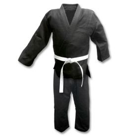 Black Single Weave Judo Uniform