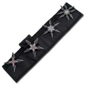 Black Throwing Star Set
