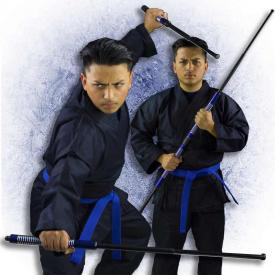 Blue 2-Piece Collapsible Bo Staff
