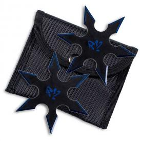 Blue Blade Throwing Star Set