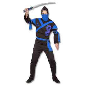 Blue Dragon Ninja Warrior Costume