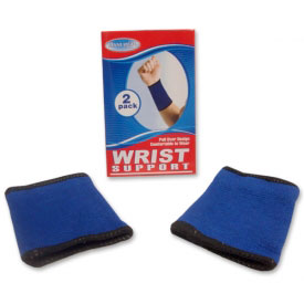 Blue Elastic Wrist Supporters
