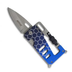 Blue Multitool Credit Card Knife