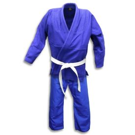 Blue Single Weave Jiu-Jitsu Uniform