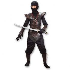 Brown Leather Ninja Fighter Costume