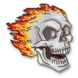 Burning Skull Patch