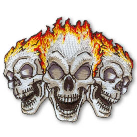 Burning Skull Trio Patch
