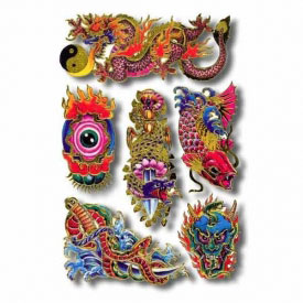 Chinese Art Temporary Tattoos