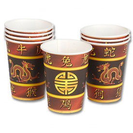 Chinese Dragon Party Cups (8-Pack)