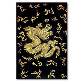 Chinese Golden Dragon Tapestry