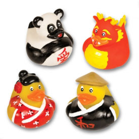 Chinese New Year Rubber Duckies (4-Pack)